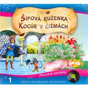 Najkrajšie Rozprávky - Šípová Ruženka / Kocúr v čižmách od 5,59 €