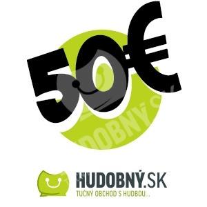hudobny.sk - Darčekový poukaz v hodnote 50€ od 50,00 €
