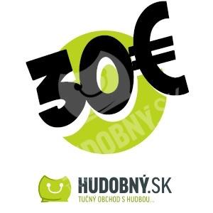 hudobny.sk - Darčekový poukaz v hodnote 30€ od 30,00 €