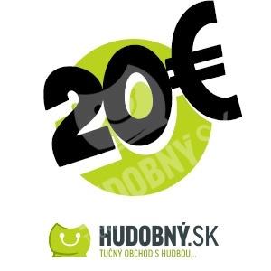 hudobny.sk - Darčekový poukaz v hodnote 20€ od 20,00 €