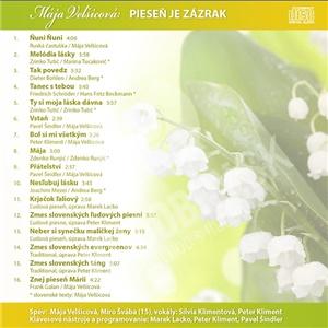 Velšicová Maja - Pieseň je zázrak od 9,99 €