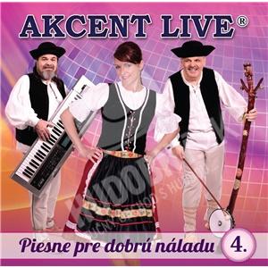 Akcent live - Piesne pre dobrú náladu 4 od 7,79 €