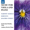 Sarah-Jane Bradley, Anthony Hewitt - Music for Viola and Piano