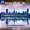 Sarah-Jane Bradley, Christian Wilson - English Music for Viola and Piano