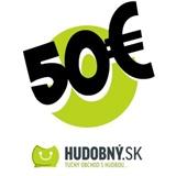 hudobny.sk - Darčekový poukaz v hodnote 50€