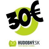hudobny.sk - Darčekový poukaz v hodnote 30€