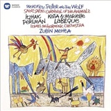 Itzhak Perlman, Zubin Mehta, Israel Philharmonic Orchestra, Katia Labeque, Marielle Labeque - Prokofiev - Peter and the Wolf, Saint-Saëns - Carnival of the Animals
